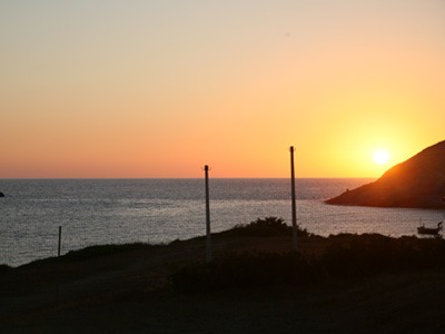 camping tonnara tramonto
